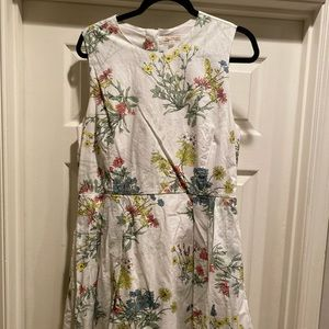 Gap fit and flare floral dress Sz 14